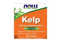 Минерали » NOW Kelp 150 mcg of Natural Iodine, 200 Tablets