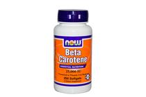 Витамини » NOW Beta Carotene 25,000 IU, 100 Softgels