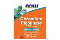 За потискане на апетита » NOW Chromium Picolinate 200 mcg, 100 Caps