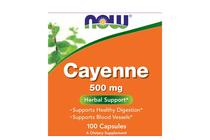 Термогенни фетбърнъри » NOW Cayenne, 100 Capsules