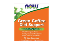 Зелен чай » NOW Green Coffee Diet Support, 90 Veg Caps