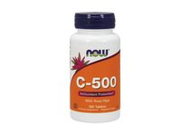 Витамини » NOW Vitamin C-500 with Rose Hips, 100 Tablets