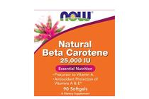 Витамини » NOW Natural Beta Carotene 25,000 IU, 90 Softgels
