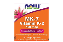 Витамини » NOW MK-7 Vitamin K-2 100 mcg, 60 Veg Caps