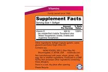 Витамини » NOW Vitamin E-400 IU MT, 250 Softgels