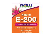 Витамини » NOW Vitamin E-200 IU MT, 100 Softgels