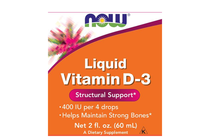 Витамини » NOW Liquid Vitamin D-3, 60 ml